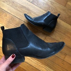 Black ankle bootie